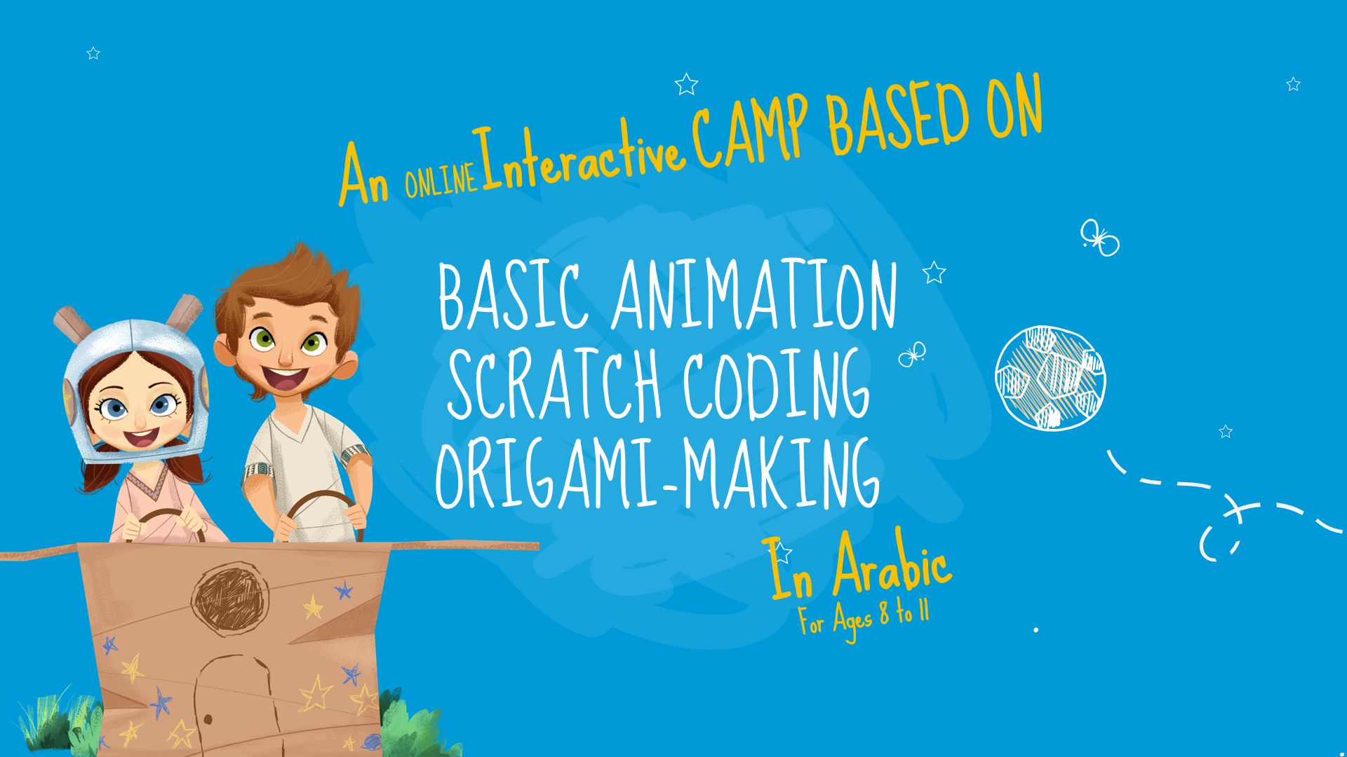 An interactive camp based on basic animation scratch coding